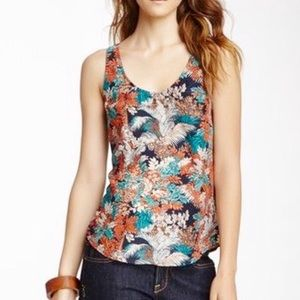 Lucky Brand Jungle Royal Top S Blue S/L Tank